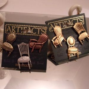 NWTS Artifacts Vintage Chairs Brooches.L53-2